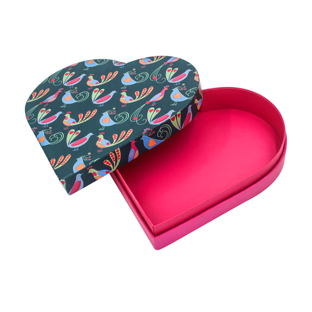 Cosmetic Paper Heart Shape Gift Box