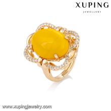 14753 xuping jóias graciosa18k banhado a ouro moda artificial gemstones anel de dedo para senhora