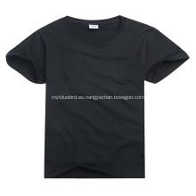 Algodón impreso personalizado camiseta cuello redondo