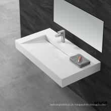 Superfície sólida acrílica / pia de banheiro de mármore cultural