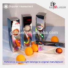 Versorgung aller Arten von keine Druckfarbe Hologramm Papier-Box für Tischtennis Verpackung