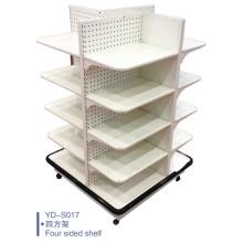 Four Face Supermarket Display Rolling Racks