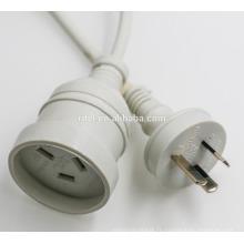 Cordon d'alimentation australien SAA Power Cords 2 Fiche SAA non-wirable avec câble