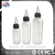 Multiple empty permanent makeup pigment ink bottle tattoo empty ink bottle