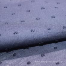 Tela de puntos suizos de encaje de gasa de algodón cortado a mano