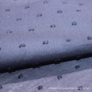 handgeschnittene Baumwolle Voile Spitze Schweizer Punkte Stoff