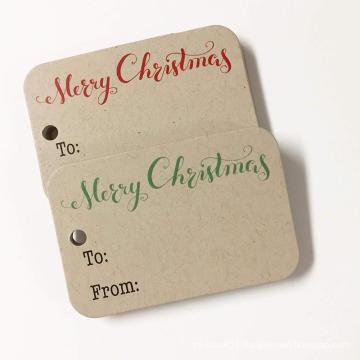 Custom Kraft Merry Christmas Gift Wrap Tags Christmas Gift Tags