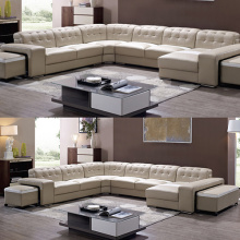 Itali Living Room Corner kulit Set Sofa