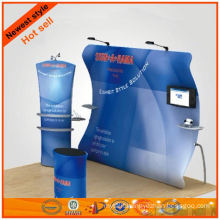 Simple structural fabrics trade show booth design from Shanghai