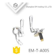 EM-T-A005 dobradiças de assento do toalete do aço inoxidável do fim macio de alta qualidade Louças sanitárias