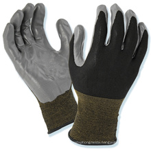 Anti-cold Cheap Winter Warm Gloves Smooth Nitrile Coated Glove for Auto Industry