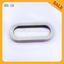 RB18 Manija de cuero del bolso hebilla de la correa de la aleación del cinc metal Hebilla oval del anillo de la forma o