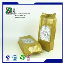 4 Side Seal Recyclable Coffee Packaging Bag with Degassing Valve