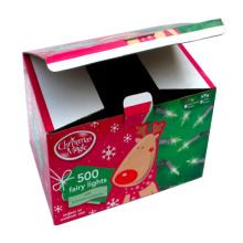 Cadeau en papier de Noël pour l'emballage des feux de fées