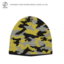 Winter Jacquard Knitted Hat Jacquard Knitted Beanie Acrylic Jacquard Toque Acrylic Knitted Hat