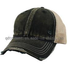 Triturando el sombrero sucio lavado del camionero del béisbol del acoplamiento del mono (TM0863-1)