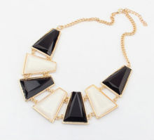 Costume Jewelry Big Size Stone Collar Statement Necklace For Women