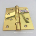 Sheet metal fabrication straight hole golden polishing iron door hinge