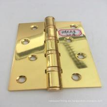 Bisagra de puerta de hierro pulido dorado de agujero recto de fabricación de chapa