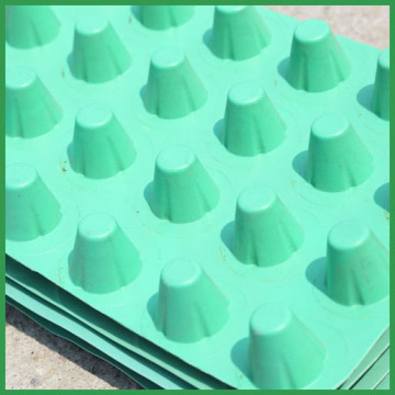 8mm tahan air hdpe plastik dimple Draining Board