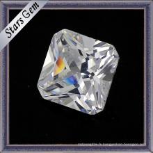 Square Cut Cubic Zirconia Gemstone Loose Beads
