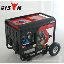 BISON CHINA 3 Phase 5kw refroidi à l'air 6500 10 HP Silent Generator