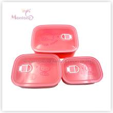 Luftdicht Food Grade Kunststoff Lebensmittelbehälter Set (400ml 750ml 1300ml)
