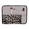 6PCS Travel Makeup Brush with Pattern Pouch