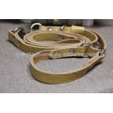 soft genuine leather dog leash and collar for big dogs