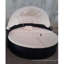 Wicker Outdoor / Gartenmöbel - Rundes Sonnenbett