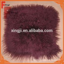 окрашенные винный цвет Тибет ягненка меховой подушки
