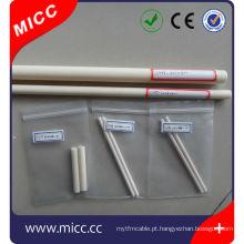 Tubo cerâmico poroso do par termoeléctrico 99,5% al203 para o forno de tubo