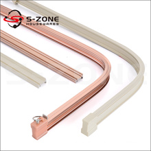 Aluminum flexible curtain track