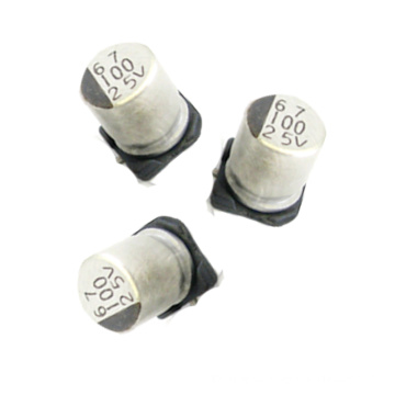 Condensador electrolítico de aluminio de Shenzhen Topmay SMD 16V25V100V