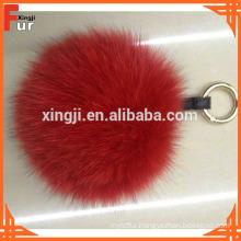 Wholesale Fox Fur Pom Pom Keychain