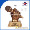 пользовательские музыка трофей золотой микрофон трофей