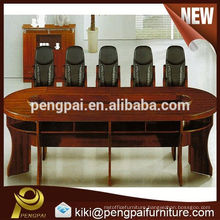 elliptical big walnut wooden double level meeting/ conference table