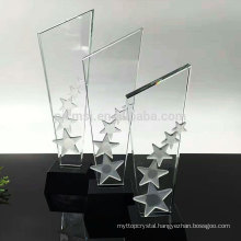 Durable using low price custom crystal award trophy
