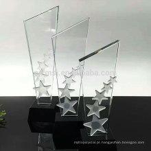 Durável usando baixo preço personalizado troféu troféu de cristal