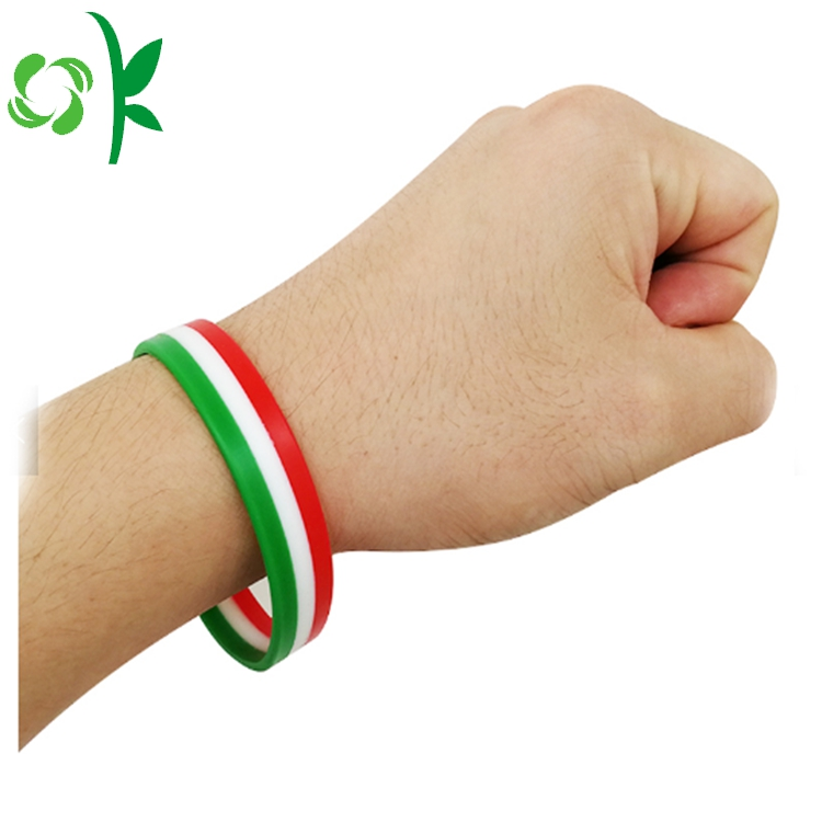 Three Layer Silicone Wristband