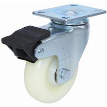 Swivel Nylon Caster with Dual Brake (White)
