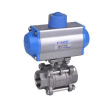 "1/2"" ss316 3 pcs pneumatic ball valve"