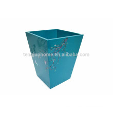 Spray painted handmade waste bin with factory price