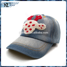 cute style caron kids cap and baseball cap with 3d embroidery