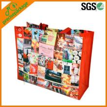 Le sac fourre-tout stratifié glacé de publicité d'OEM de publicité adapté aux besoins du client en gros