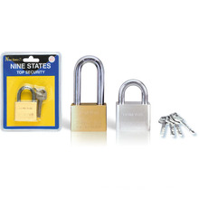 Heavy Duty Square Type Solid Brass Leaves Padlock (BB301)