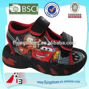 china wholesale kid sandals PU face print cartoon toy