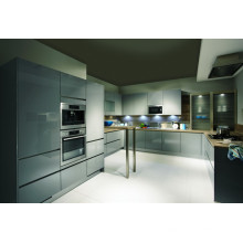 High Gloss Grey Color Kitchen Cabinets for Sale (GLOE202)