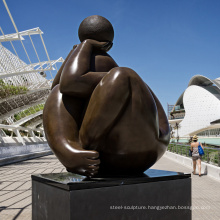 modern art bronze sculpture - fat woman dancer