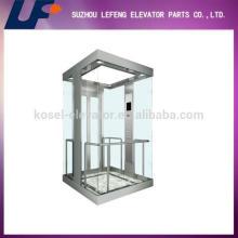 Смотровый лифт с панорамным стеклом, небольшой подъемник из стекла